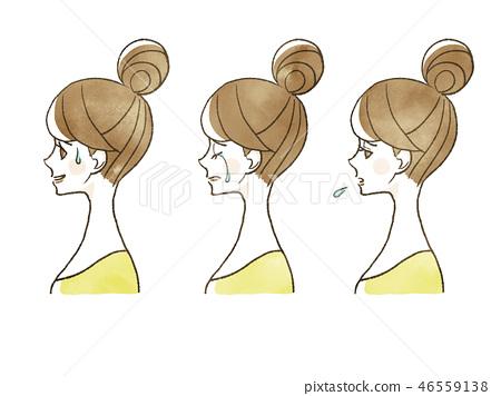 女性 - 面部表情(個人資料) 46559138