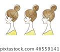 女性 - 面部表情(個人資料) 46559141