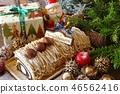 聖誕節蛋糕聖誕節圖像布什de Noel聖誕節卷蛋糕 46562416