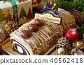 聖誕節蛋糕聖誕節圖像布什de Noel聖誕節卷蛋糕 46562418
