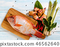 Top view of fresh fish 46562640