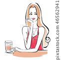 카페에서 한숨 핑크 하복 46562941