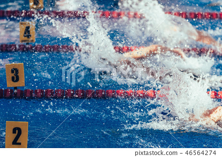 Swimming competition 46564274