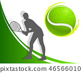 sport background tennis. woman. vector 46566010