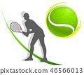 sport background tennis. woman. vector 46566013