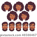 face of African man and woman - set 46566467