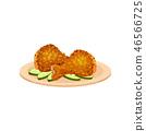 접시, 그릇, 음식 46566725