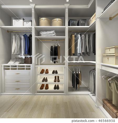 uxury scandinavian wood walk in closet  46566938