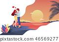 Romantic honeymoon Valentines Day 46569277
