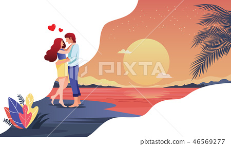 Romantic honeymoon Valentines Day 46569277