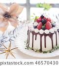 時尚聖誕草莓蛋糕 46570430