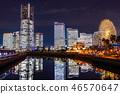 """""""神奈川縣""""橫濱港未來·整棟建築照亮夜景""""2018"""" 46570647"""