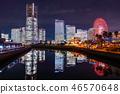 """""""神奈川县""""横滨港未来·整栋建筑照亮夜景""""2018"""" 46570648"""