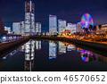 """""""神奈川县""""横滨港未来·整栋建筑照亮夜景""""2018"""" 46570652"""