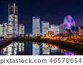 """""""神奈川縣""""橫濱港未來·整棟建築照亮夜景""""2018"""" 46570654"""