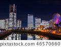 """""""神奈川縣""""橫濱港未來·整棟建築照亮夜景""""2018"""" 46570660"""