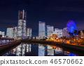 """""""神奈川县""""横滨港未来·整栋建筑照亮夜景""""2018"""" 46570662"""