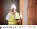 Engineer With Headache At Work With Computer In Construction Site 46571145