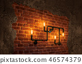 Concept of interior lighting with edison bulb lamp 46574379