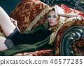 의자, 걸상, 여자 46577285