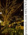 表参道的圣诞节照明 46577471