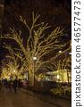 表参道的圣诞节照明 46577473