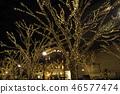 表参道的圣诞节照明 46577474