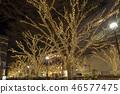 表参道的圣诞节照明 46577475
