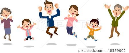 ครอบครัวกระโดดสามชั่วอายุคนไม่ทับซ้อนกัน 46579002