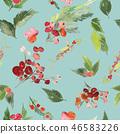holly, xmas, watercolor 46583226