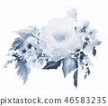 Watercolor floral illustration on white background 46583235
