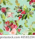 holly, xmas, watercolor 46583294