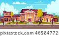 vector, house, housing 46584772