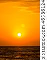 海 日落 海洋 46586124