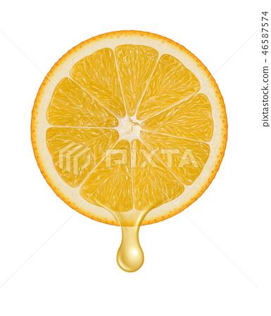 Orange juice dripping illustration 46587574
