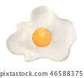 Hand painted watercolor of Delicious fried egg. 46588375