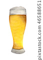 Glass of beer isolated on white background. 46588651