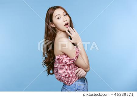 女性肖像系列顏色回 46589371