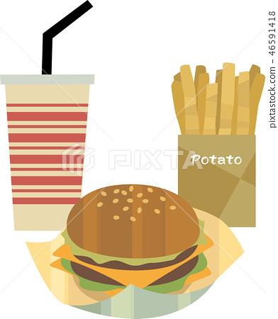 雙層芝士漢堡套裝 46591418