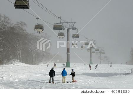 Tashiro Ali esuka課程Kagura滑雪場的上部 46591889
