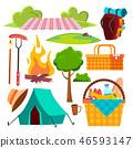 picnic, vector, icon 46593147