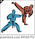 karate, kick, sport 46595755