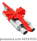 Car exhaust pipe wrapped ribbon and bow 46597635