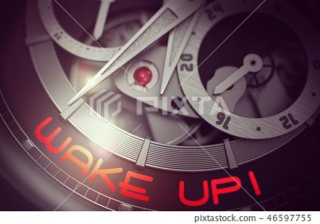 Wake Up on Vintage Pocket Watch Mechanism. 3D. 46597755