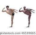 肌肉發達 肌肉 雙位 46599665