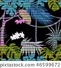 exotic jungle leaf 46599672