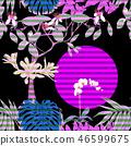 exotic jungle leaf 46599675
