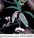 exotic jungle leaf 46599680
