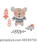 bear,vector,hedgehog 46599756