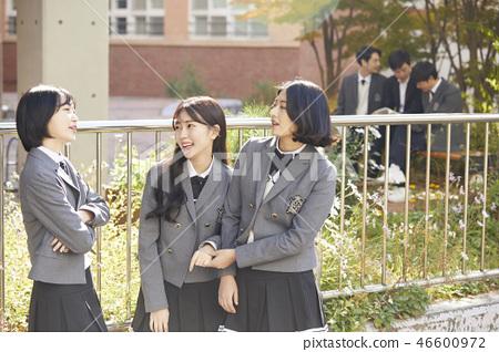 Man, woman, junior high school student, high school student, teacher, Korean 46600972